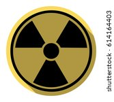 radiation round sign. vector.... | Shutterstock .eps vector #614164403