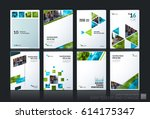 abstract vector business... | Shutterstock .eps vector #614175347