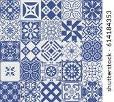 big vector set of tiles... | Shutterstock .eps vector #614184353