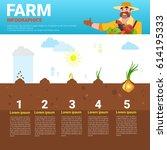 farming infographics eco... | Shutterstock .eps vector #614195333