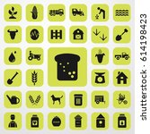 bread icon. agriculture set.... | Shutterstock .eps vector #614198423