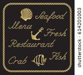 nautical rope words  menu ... | Shutterstock .eps vector #614201003