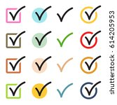 vector check mark icons set | Shutterstock .eps vector #614205953