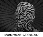 abstract portrait  3d...   Shutterstock . vector #614208587