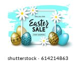 easter sale banner background... | Shutterstock .eps vector #614214863