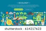 modern flat infographic ecology ... | Shutterstock .eps vector #614217623