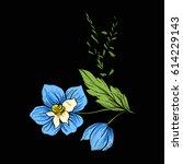 vintage style flowers elements...   Shutterstock .eps vector #614229143
