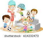 vector funny cartoon... | Shutterstock .eps vector #614232473