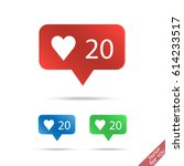 followers vector icon set.... | Shutterstock .eps vector #614233517