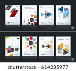 abstract vector business... | Shutterstock .eps vector #614235977