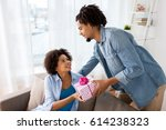 family  holidays and people... | Shutterstock . vector #614238323