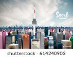 seoul korea city skyline.... | Shutterstock .eps vector #614240903