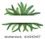 jungle green leaf floral... | Shutterstock .eps vector #614242457