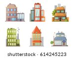 flat design of retro and modern ... | Shutterstock .eps vector #614245223