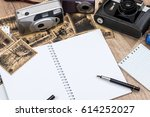 old camera with pictures and... | Shutterstock . vector #614252027