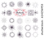 collection of trendy hand drawn ... | Shutterstock .eps vector #614256953