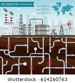 vector oil rig industry of... | Shutterstock .eps vector #614260763