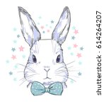 hand drawn bunny | Shutterstock .eps vector #614264207