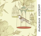 Vintage Card With A Bird In Th...
