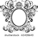 antique frame engraving ...
