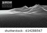 abstract vector wireframe... | Shutterstock .eps vector #614288567