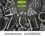 pub food frame vector... | Shutterstock .eps vector #614300033