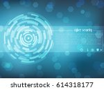 cyber security concept  on... | Shutterstock .eps vector #614318177