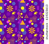 abstract seamless pattern in... | Shutterstock .eps vector #614323613