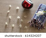 background of colorful cotton... | Shutterstock . vector #614324207