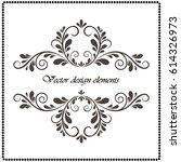 vector vintage border frame... | Shutterstock .eps vector #614326973