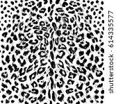 black shabby leopard pattern  | Shutterstock .eps vector #614335577
