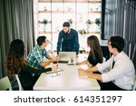 young group of people... | Shutterstock . vector #614351297