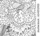 tracery seamless pattern.... | Shutterstock .eps vector #614351903