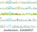 vector city illustration set | Shutterstock .eps vector #614360927