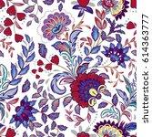 vintage flowers seamless... | Shutterstock .eps vector #614363777