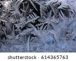 this is frosty pattern on glass ...   Shutterstock . vector #614365763