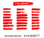 painted grunge stripes set. red ... | Shutterstock .eps vector #614368877