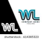 initial letter wl linked design ... | Shutterstock .eps vector #614385323