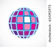 purple dimensional vector low... | Shutterstock .eps vector #614392973