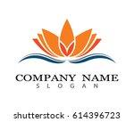 lotus logo template   Shutterstock .eps vector #614396723