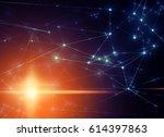 networking connecting glow... | Shutterstock . vector #614397863