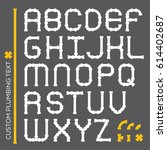 a custom plumbing font in...   Shutterstock .eps vector #614402687