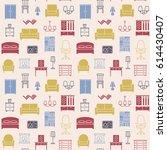 furniture seamless pattern....   Shutterstock . vector #614430407