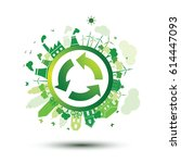 green city sustainable nature...   Shutterstock .eps vector #614447093