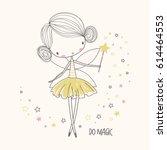 cute little fairy. nursery... | Shutterstock .eps vector #614464553