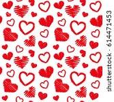 love theme hearts valentine's...   Shutterstock .eps vector #614471453