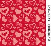 love theme hearts valentine's...   Shutterstock .eps vector #614474507