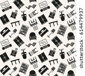 furniture icons seamless...   Shutterstock .eps vector #614479937