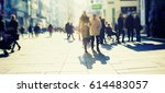 crowd of anonymous people... | Shutterstock . vector #614483057