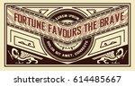 set of retro labels. | Shutterstock .eps vector #614485667